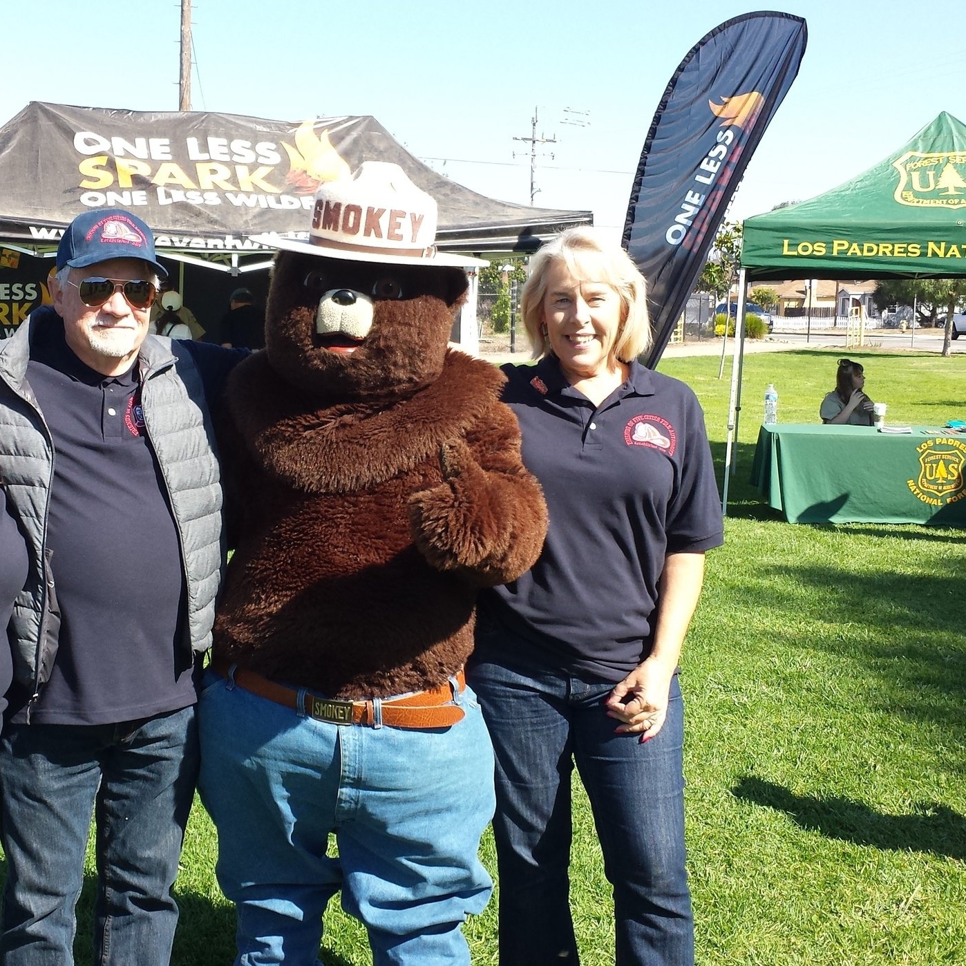 Smokey Bear at the Five Cities Fire Authority Fire and Life Safety Event on October 7th, 2017