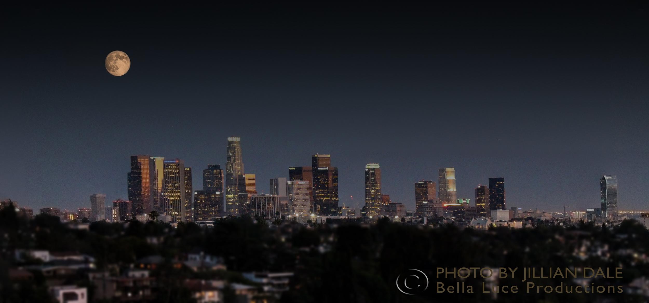 Los Angeles Skyline by Jillian Dale | Bella Luce Productions