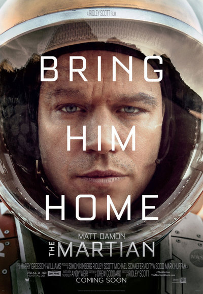 The Martian official film poster, Courtesy of 20th Century Fox