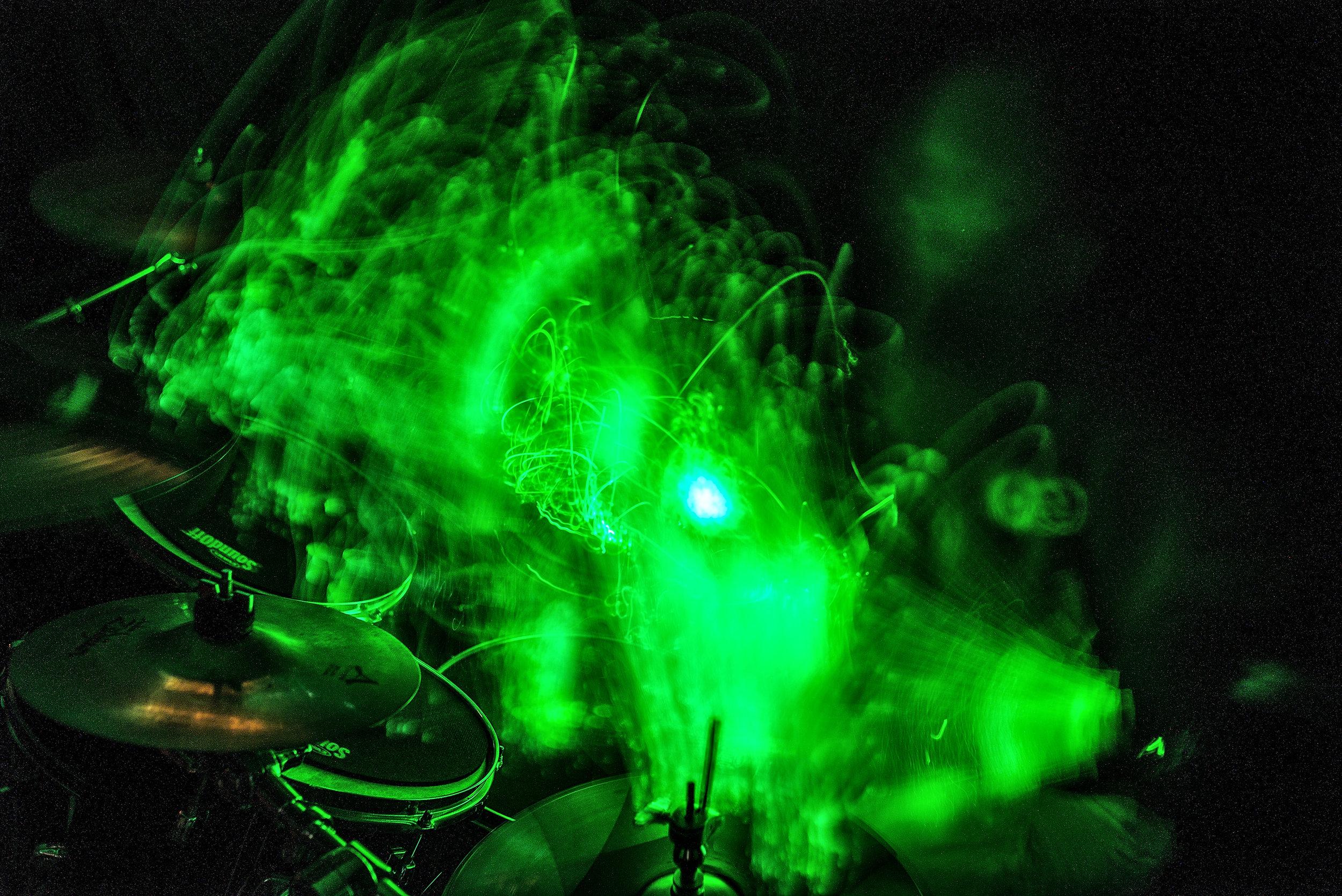 Rush's Spirit of Radio Light Painting