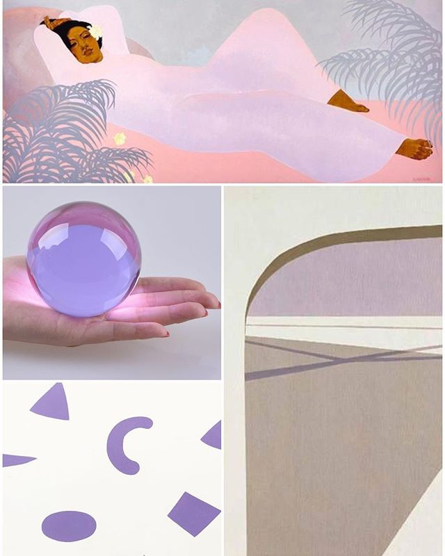 #lilac #morning #mood #peggehopper #reclining in #pastel #helenlundeberg #shadows #gvandewolen #lavender #macaroni #glass #vibes #collage #weeknightcollage 🍬☯️