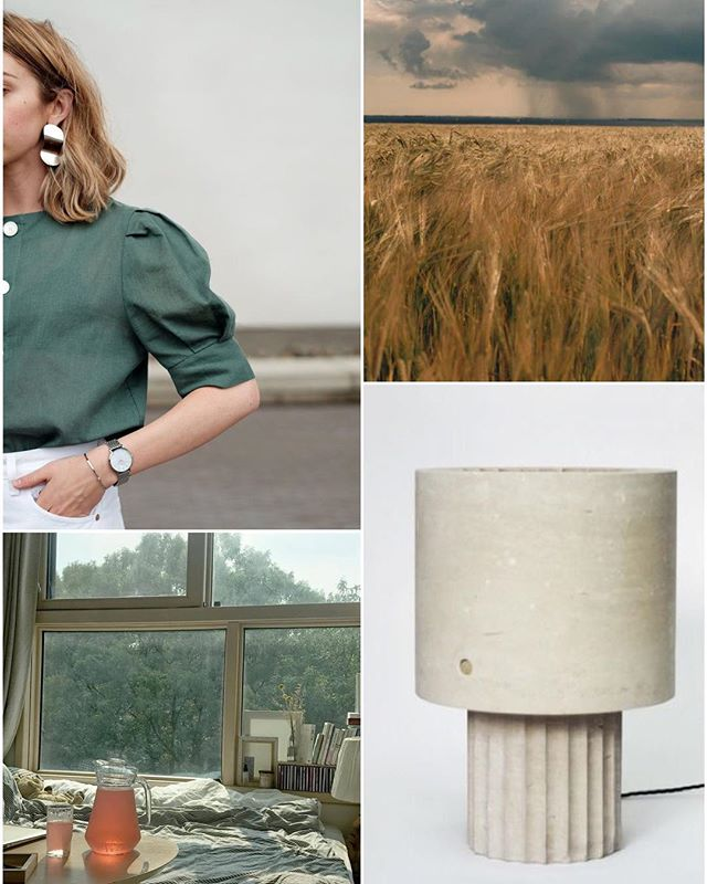 jus a lil #breeze #green #sleeves #utemahler #plains #maxlamb #limestone #lamp #morninglight or is it #afternoonlight #collage #weeknightcollage 🌾🥚