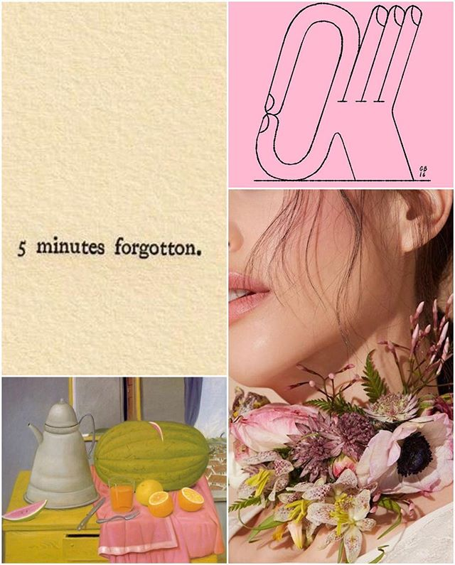 #alysonprovax #wordplay #giacomobagnara #millennialpink #okay #felisafunes #jasmine #fernandobotero #stilllife #collage #weeknightcollage 👌🏼🌸🍋🍈🐽