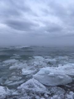 Beach behind AGP, winter