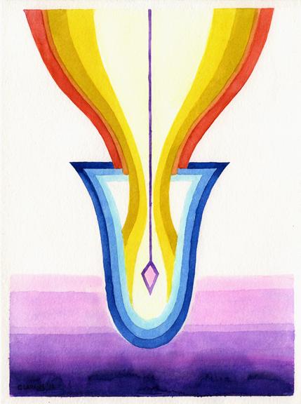 Receptacle- watercolor 2012