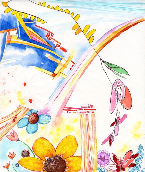 Enantiodromia I- ink on paper 2009