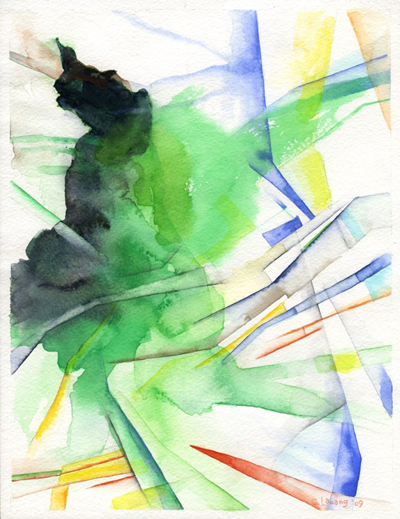 The Shattering Of An Impasse- watercolor 2009