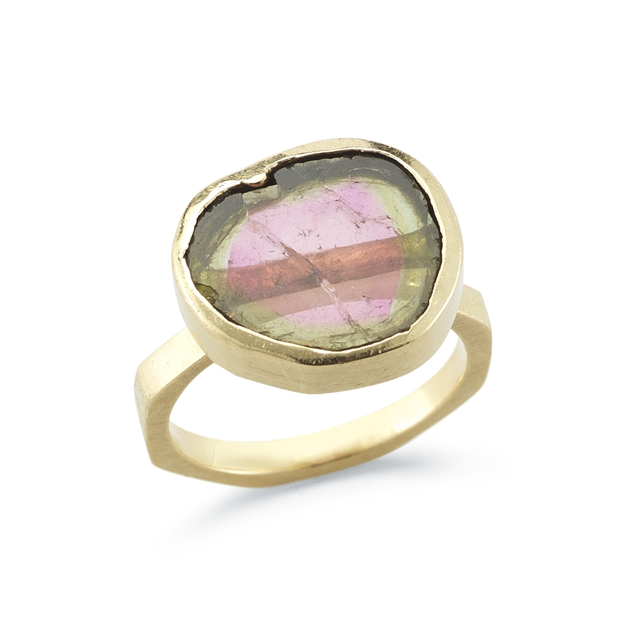 Watermelon Tourmaline Ring by AMT Jewelry Design