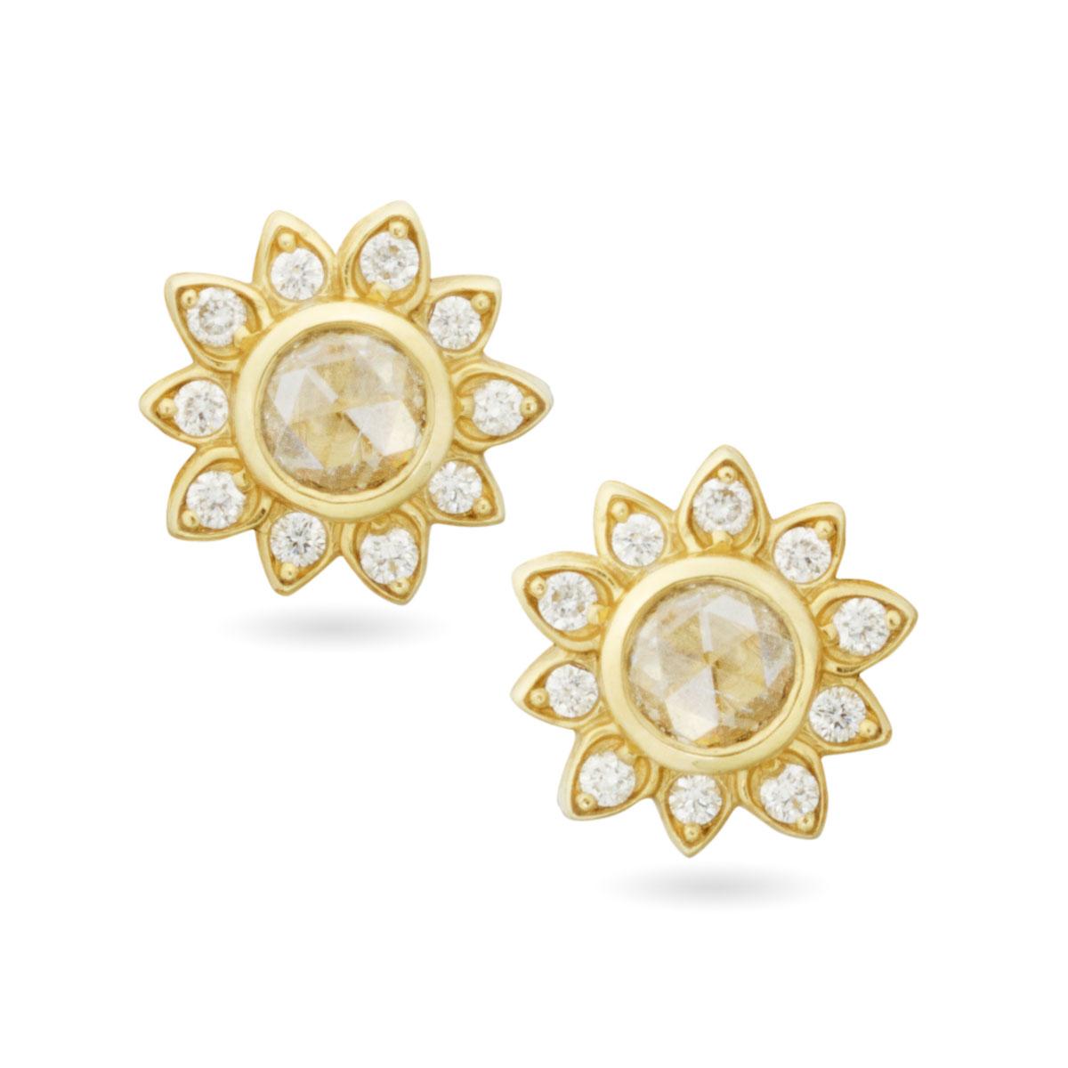 Rose Soleil Stud Earrings