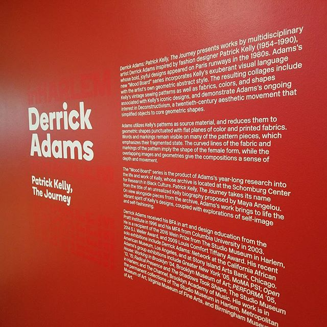 Derrick Adams: Patrick Kelly, the Journey is an exhibition of art dedicated to the memory and aesthetic of the late fashion designer Patrick Kelly. On view at the Countee  Cullen library in Harlem. #latergram #artiseverywhere #artislife  #blackart