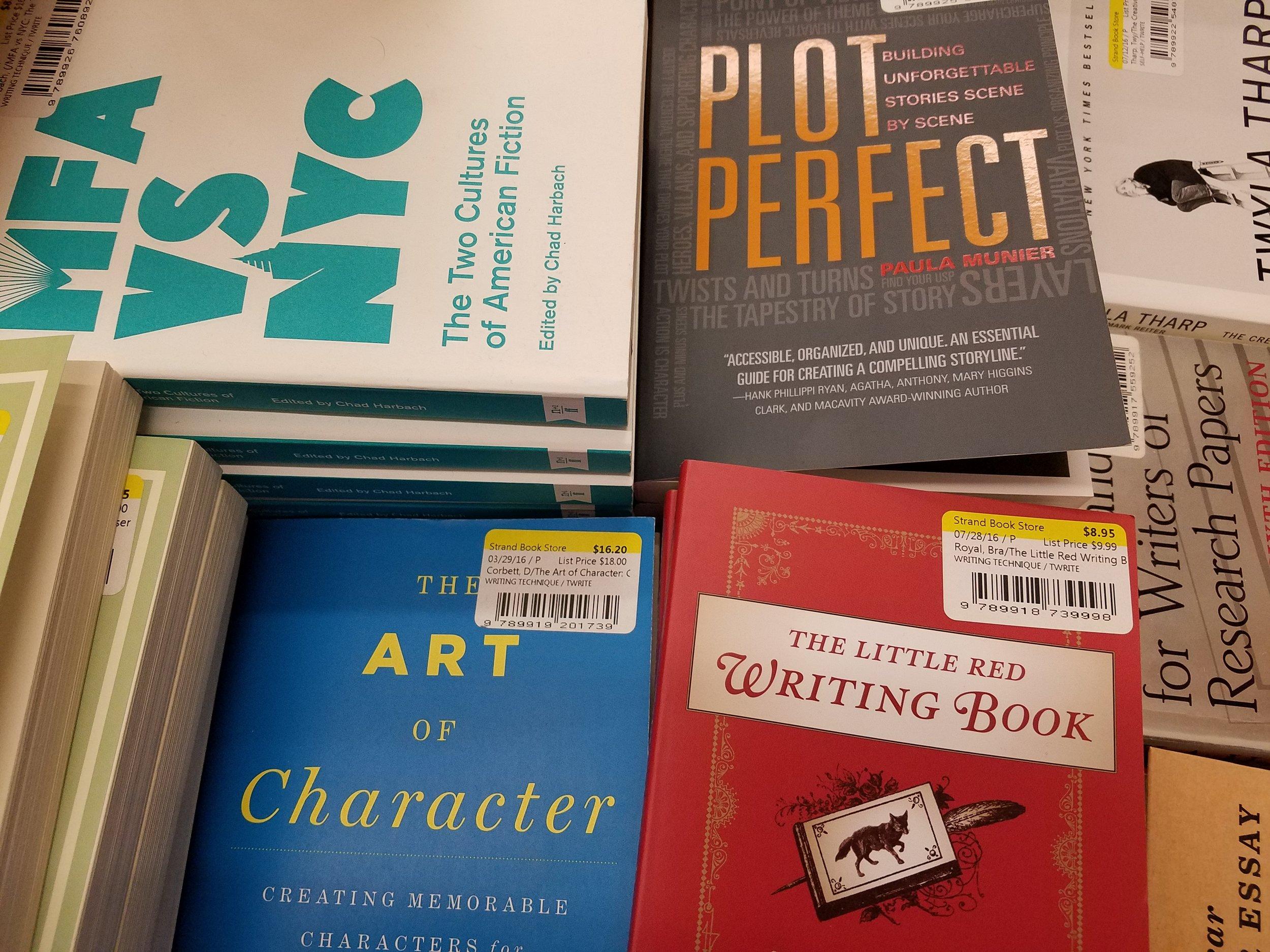 Stack of books at the Strand Bookstore in Union Square, Manhattan.