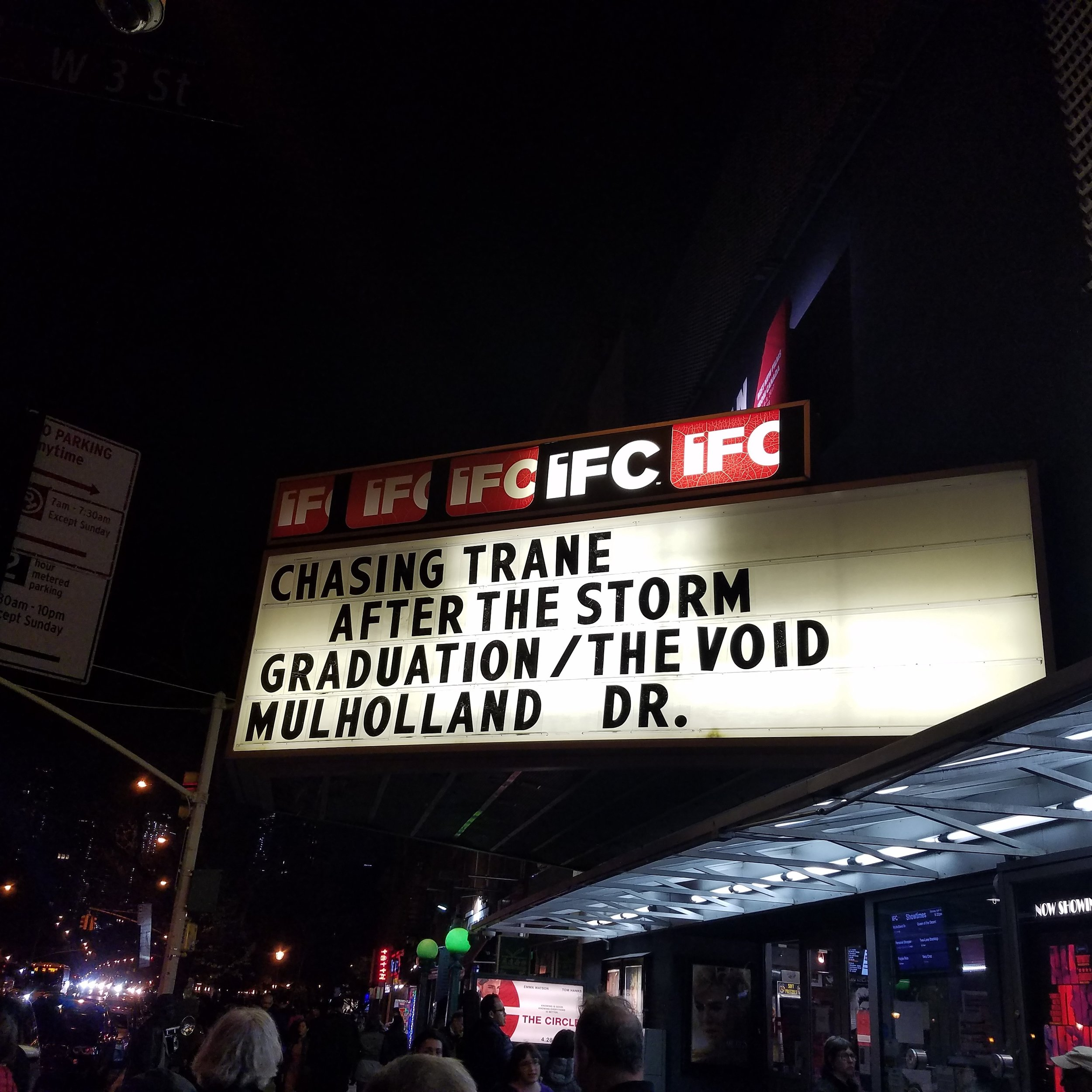 Chasing Trane at the IFC Theatre.