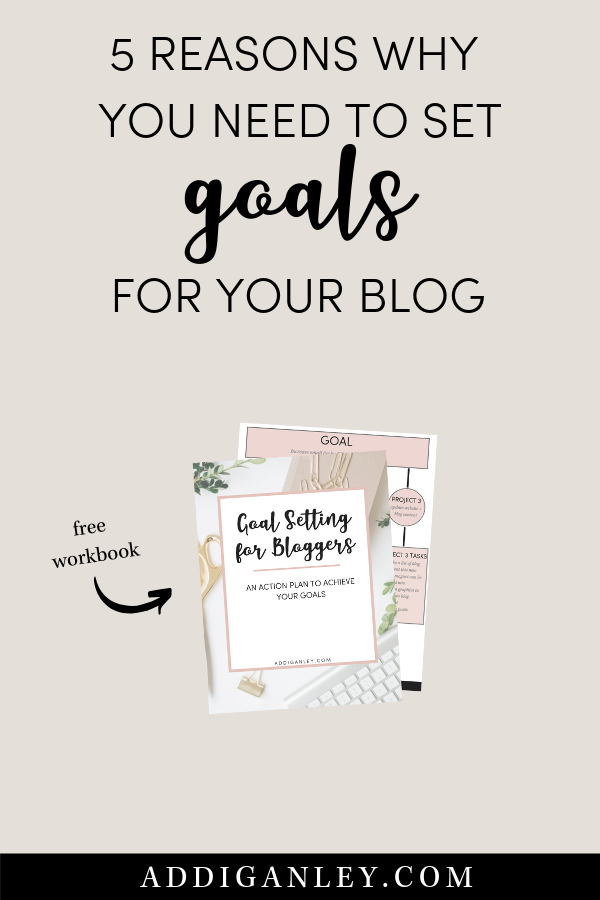 Are you trying to turn your hobby blog into a thriving business? One of the most important things you can do is set start setting goals today. Check out these 5 reasons why you need to set goals for your blog and download a free copy of the goal setting for blogger workbook.