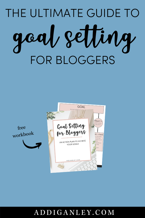 Need help setting blog goals? Check out the Ultimate Guide to Goal Setting for Bloggers and download a free copy of the workbook to start smashing your goals today!