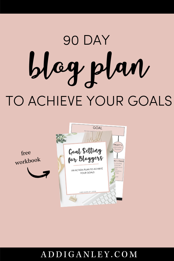 Struggling to hit your blogging goals? Not sure what to work on? Use this 90 day blog plan to help you prioritize what you NEED to be working on to get results with your blog. Click now and also download a copy of the Goal Setting for Bloggers Workbook!