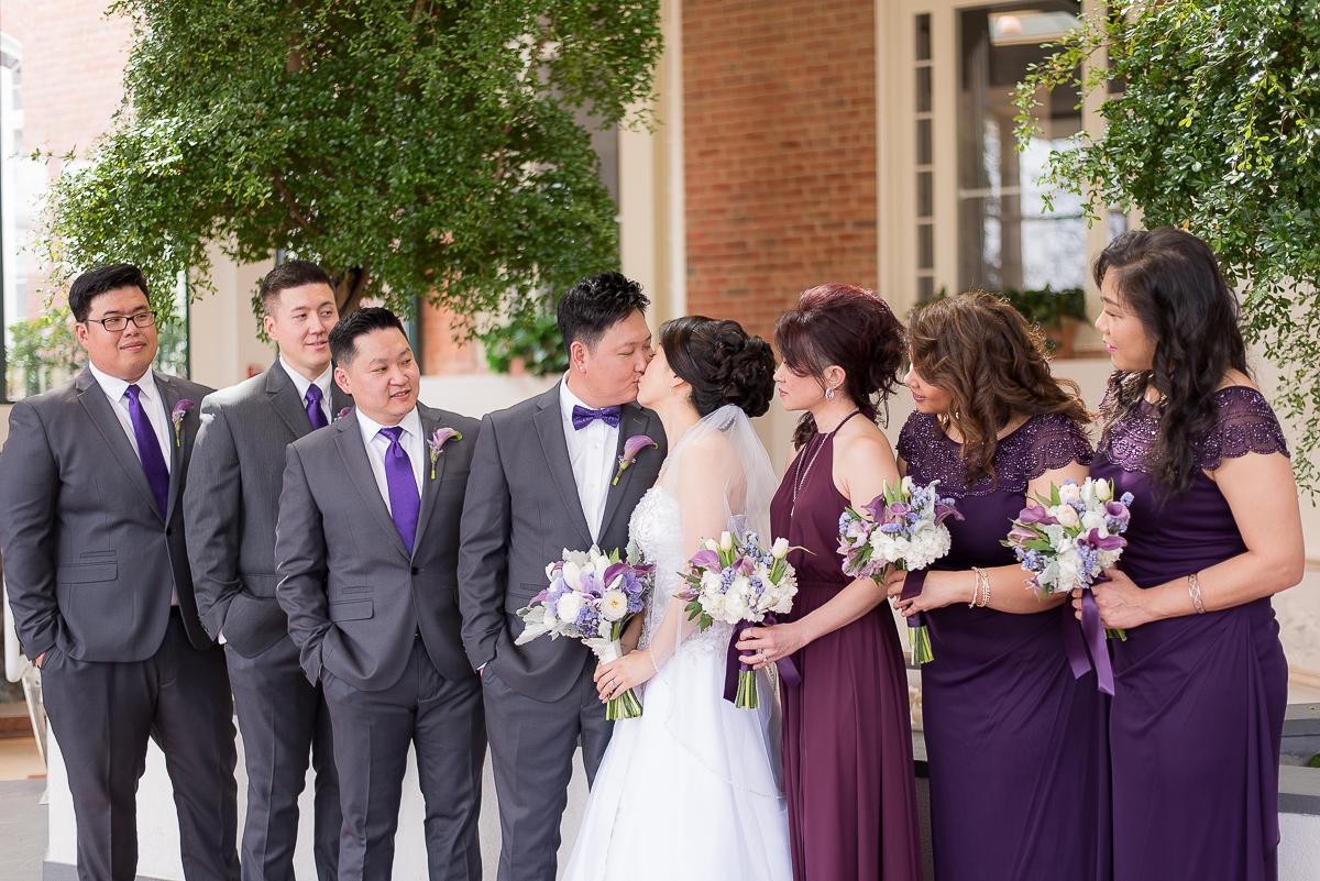 CollegePark-Wedding-Party-Portrait-Kiss.jpg