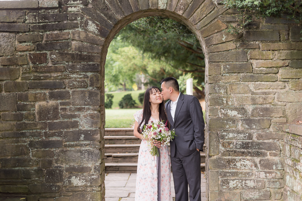 Glenview-Mansion-Engagement-Arch-Kiss.jpg