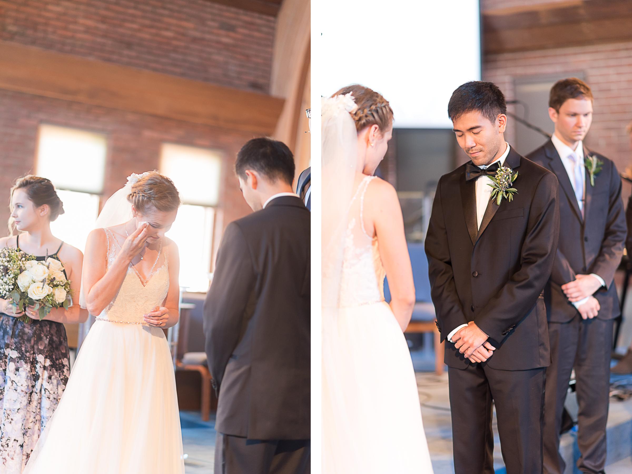 Elkridge-Furnace-Inn-Wedding-Ceremony-Bride-Groom-Crying