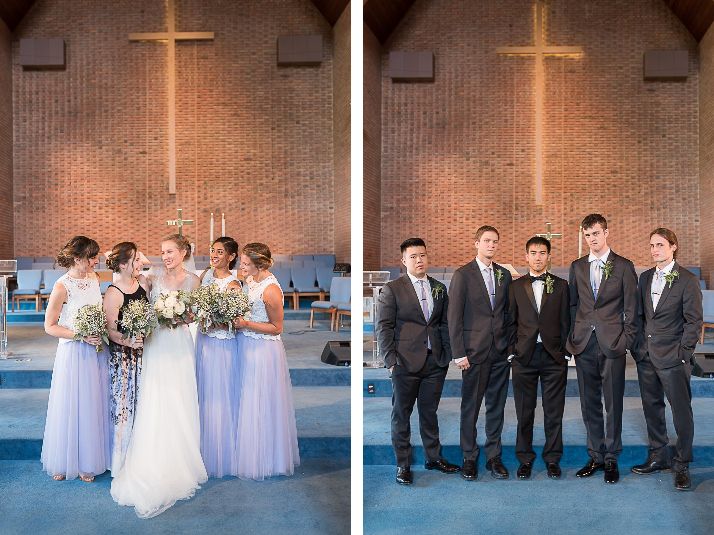 Elkridge-Furnace-Inn-Wedding-Ceremony-Bride-Bridesmaids