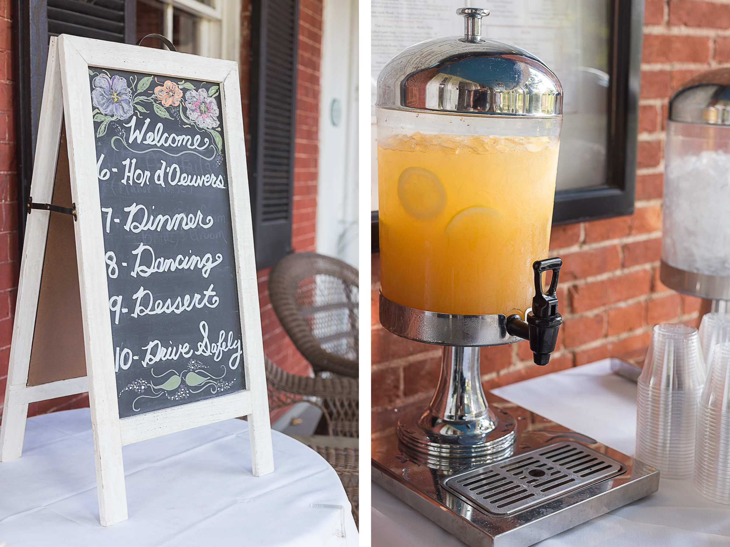Elkridge-Furnace-Inn-Wedding-Cocktail-Hour-Board