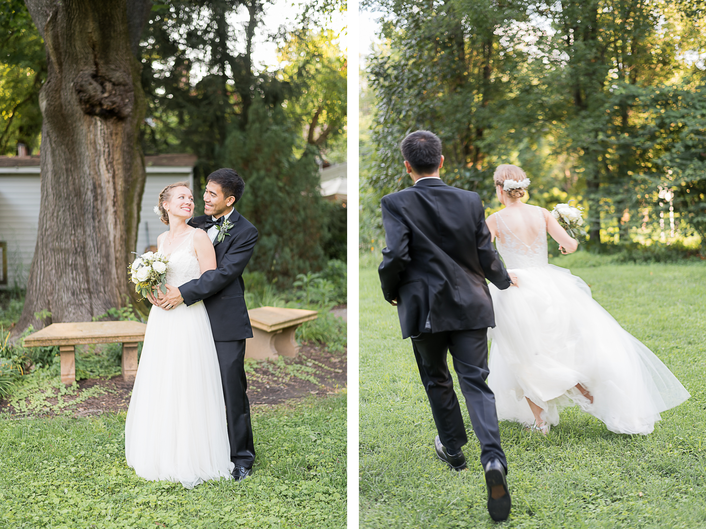 Elkridge-Furnace-Inn-Wedding-Bride-Groom-Running