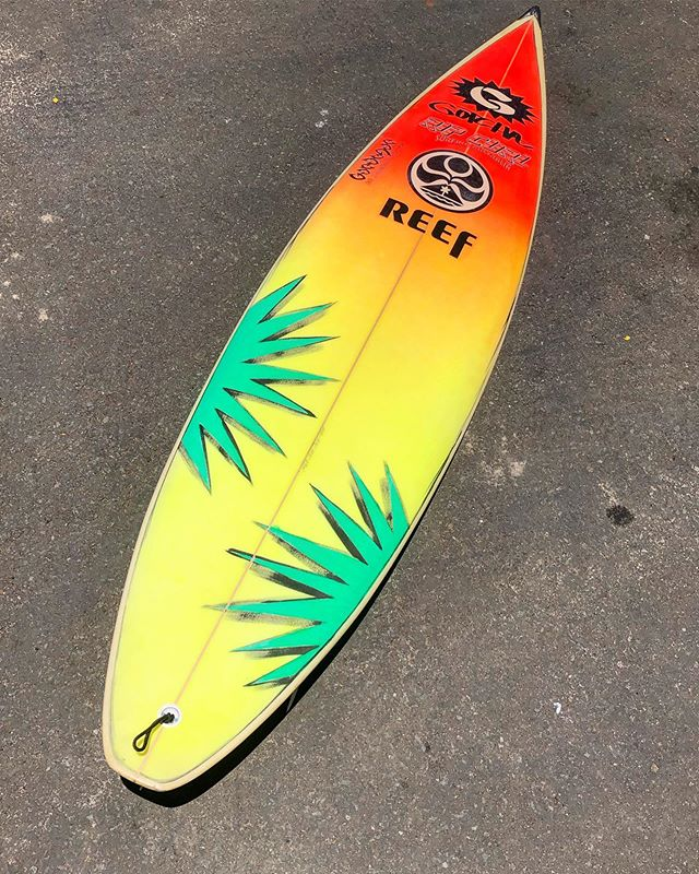 How classic is this board. This is a vintage surfboard that was used by legendary surfer Brock Little and shaped by Gabe Garduque. This board is in all original conditions. Truly a gem and now a part of the @luisrealcollection