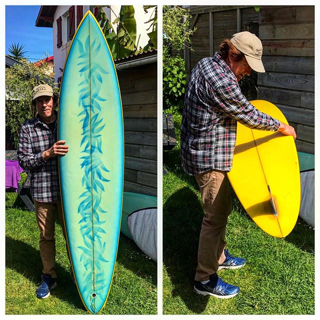This is the newest addition to the @luisrealcollection. A mid to late 1970's Tom Parrish Hand-shaped surfboard in mint original conditions. The art work done on this beautiful board is very unusual to have on a Parrish board. Super happy to have this board here. Thank you Tom Parrish for giving me the history behind this board. It would be on display at our shop from now on.