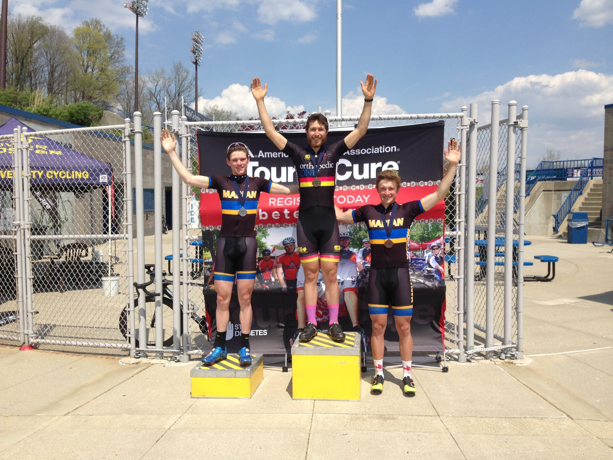 Justin Miller (middle) wins Cat 3