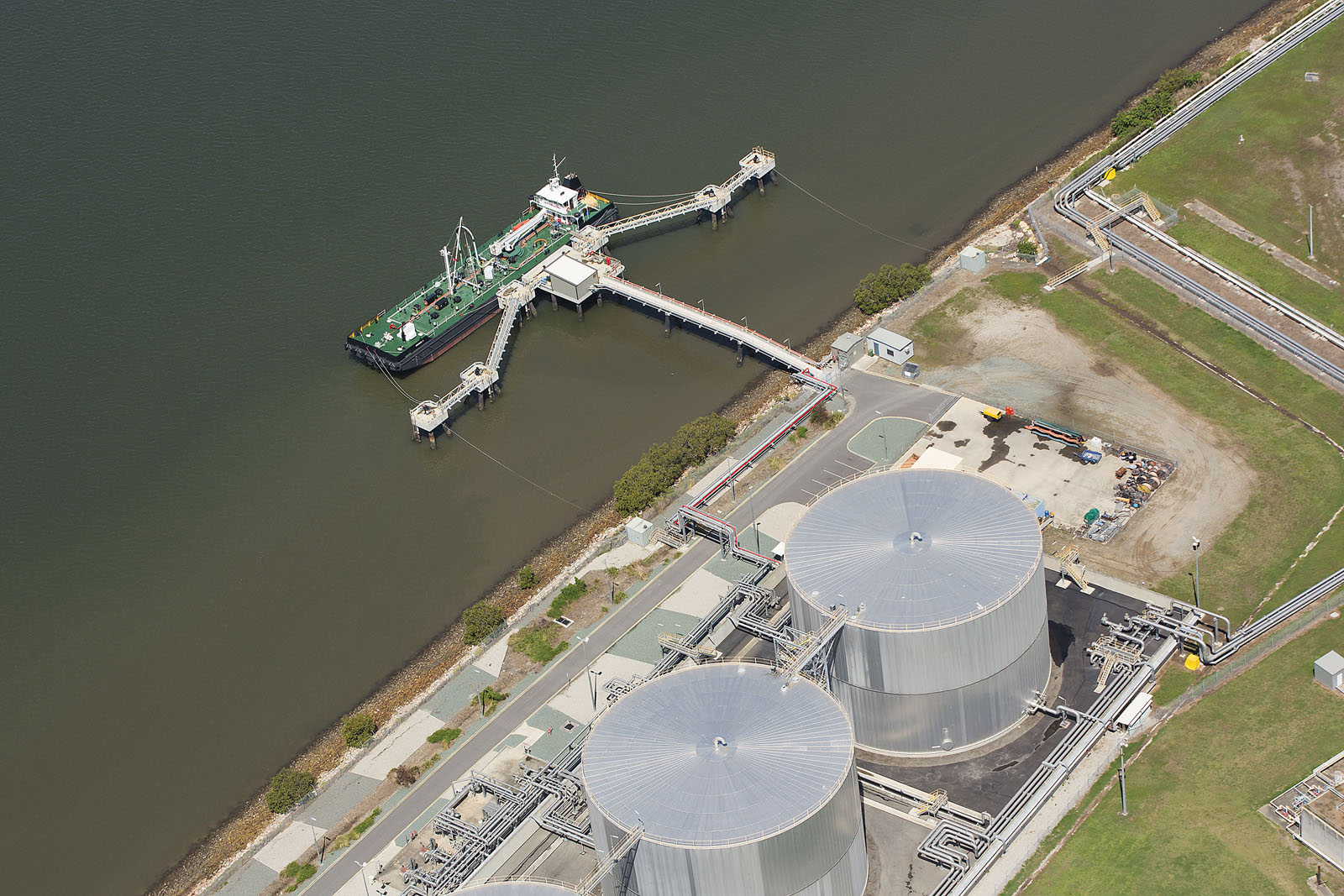 Brisbane port aerial photography