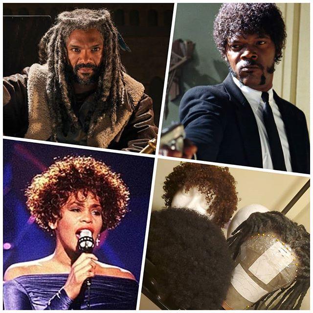 Tonight's wig choices for @misterbarrylee 's Arthur in #Camelot. I'm feeling 80's Whitney updo! #kingezekiel #juleswinnfield #whitneyhouston