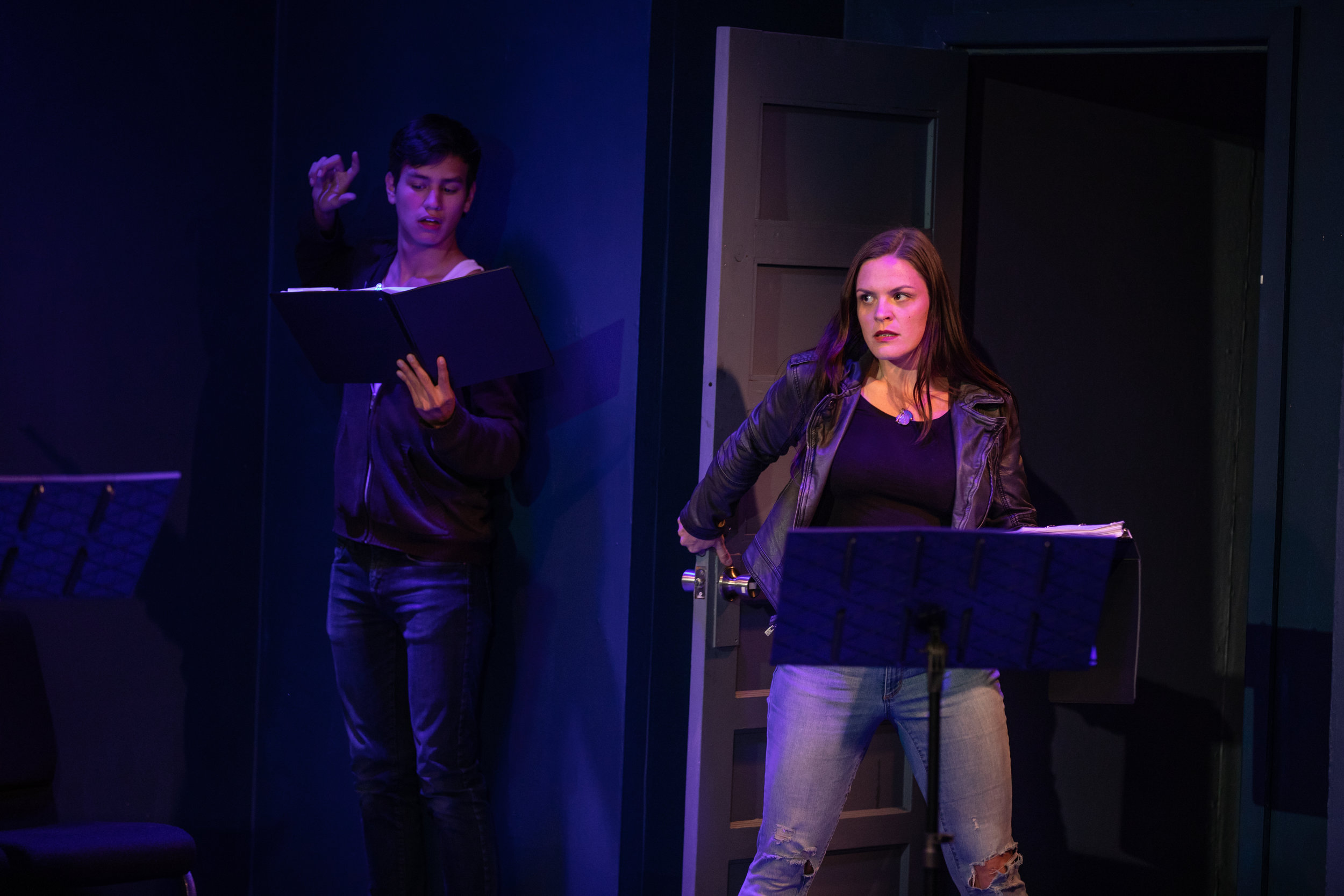 "Jason Valenzuela and MacKenzie Beyer in Luke Sorge's ""Rations""- FDF 2018  Photo Credit: McLeod9 Creative"