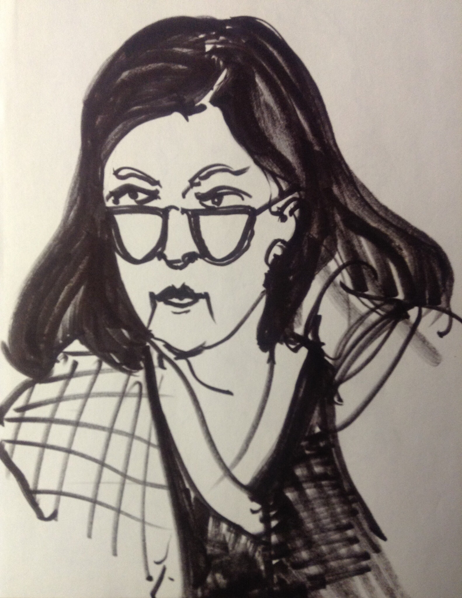 """Mary Kilroy, ink on paper, 8"""" x 6"""""""