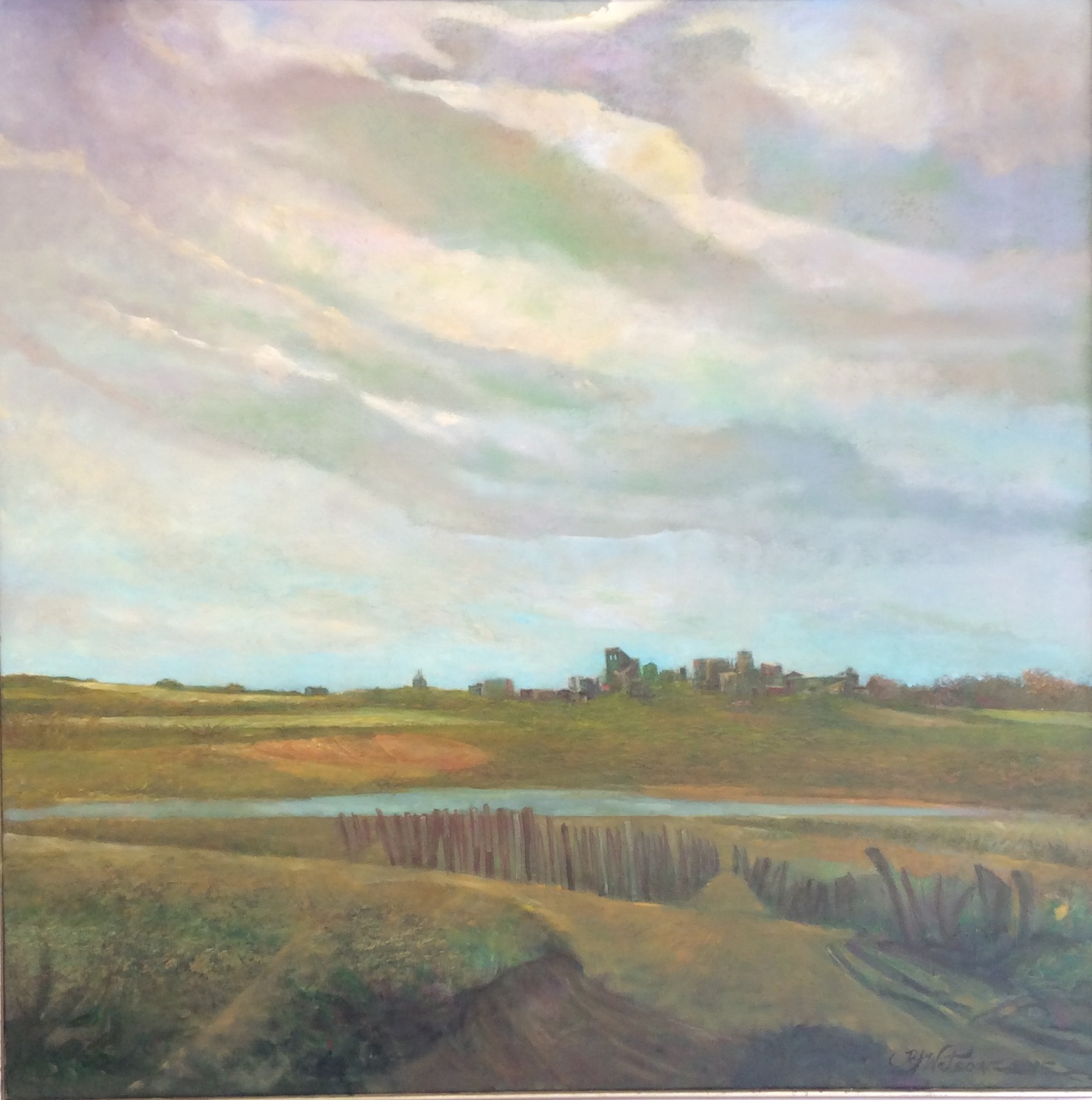 "Meadowland, oil on canvas 60"" x 52"""