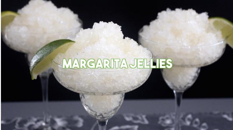 Margarita Jellies via Tastemade
