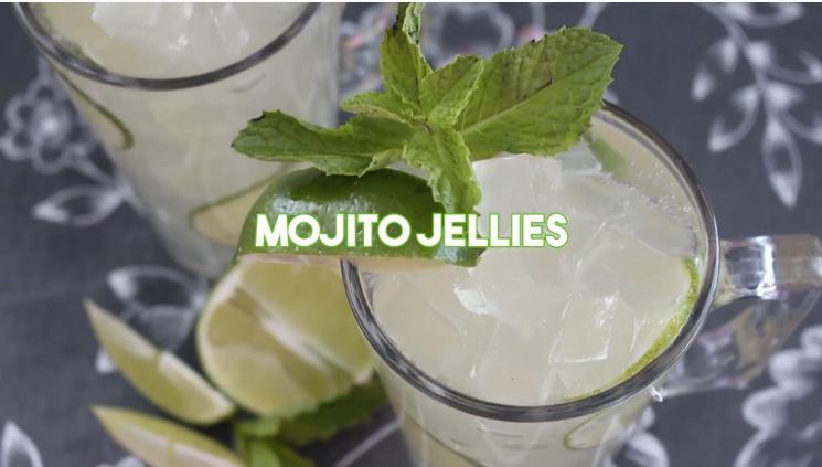Mojito Jellies via Tastemade