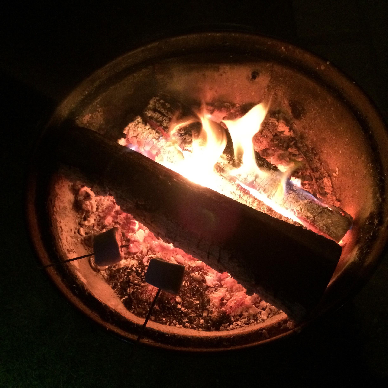 Roasting German marshmallows