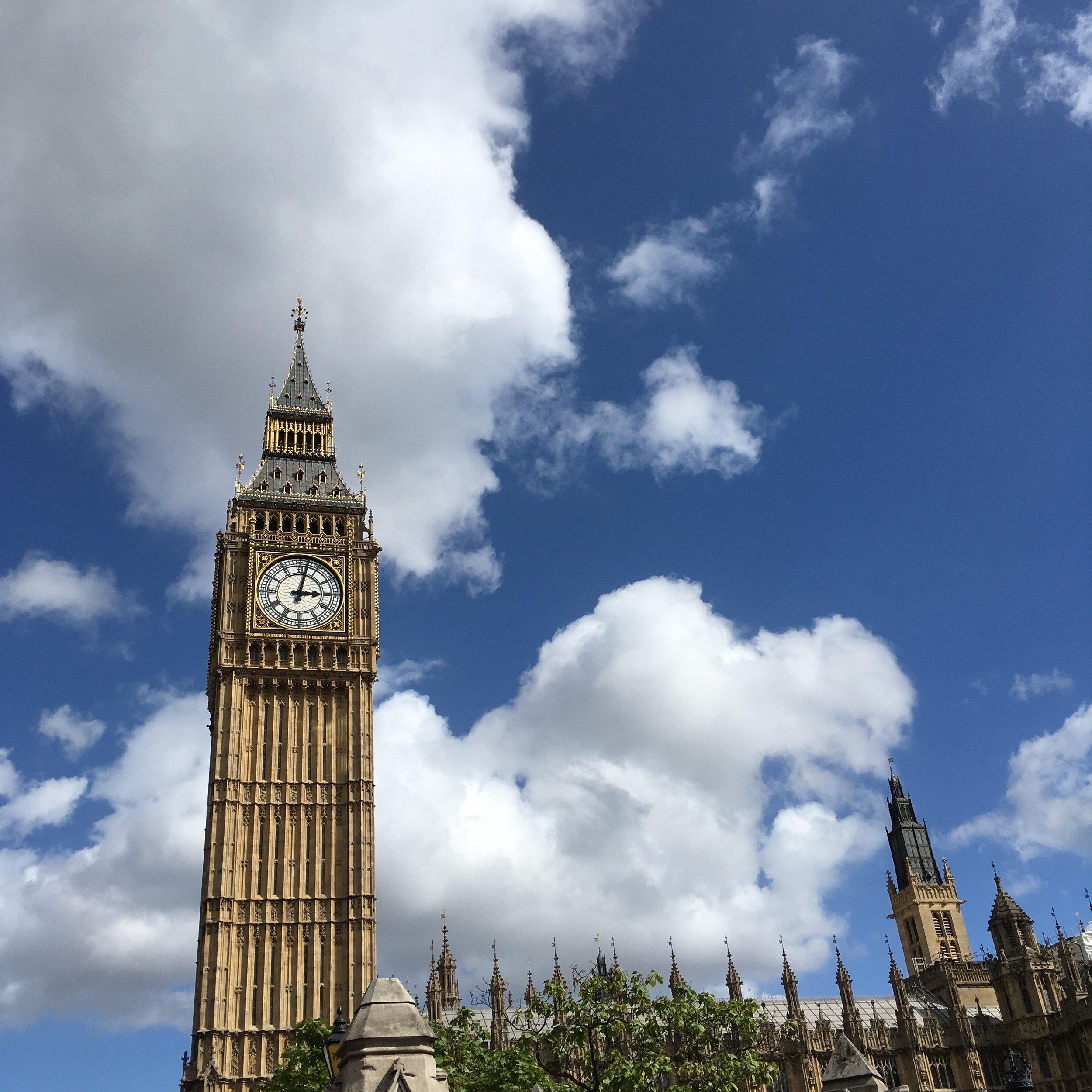 Big Ben in London, England - August 2016