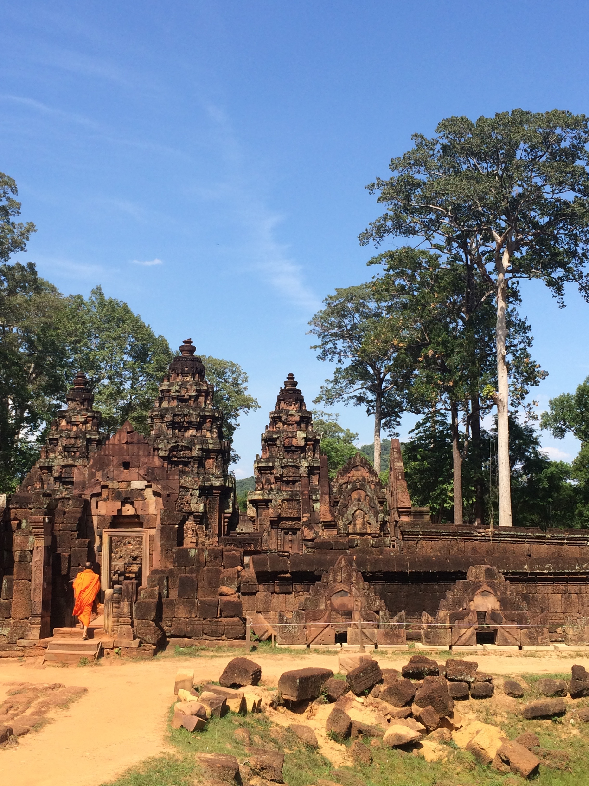 Banteay Srei (Citadel of the Women) in Siem Reap, Cambodia - May 2015