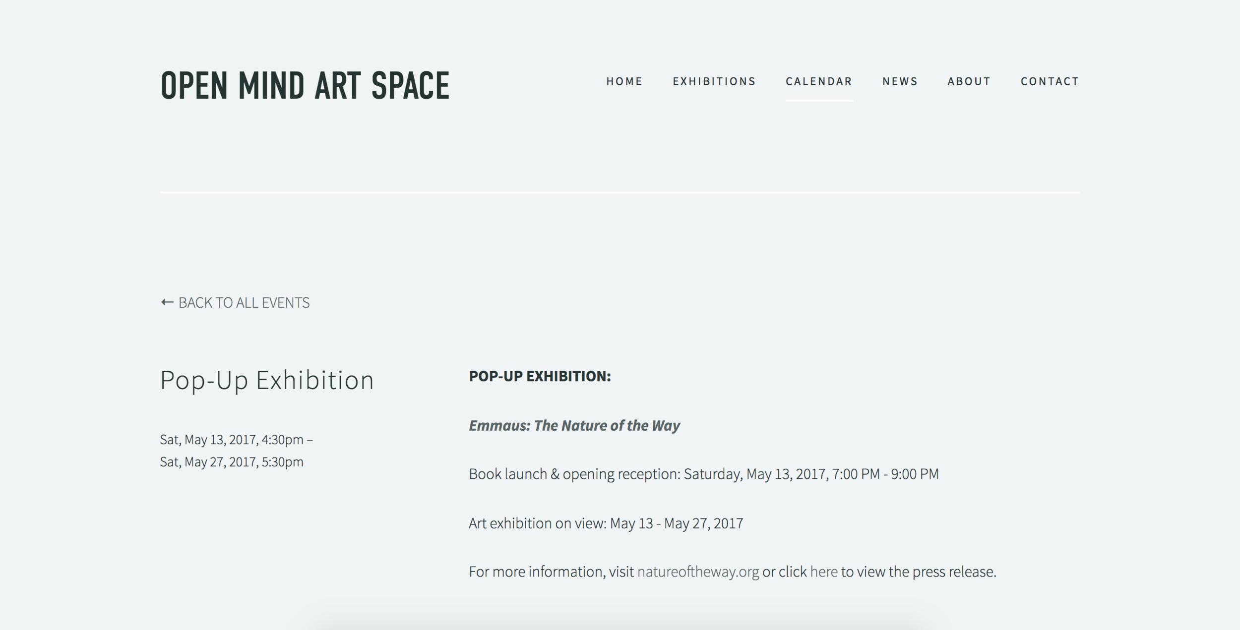 Open Mind Art Space Exhibition | 2017