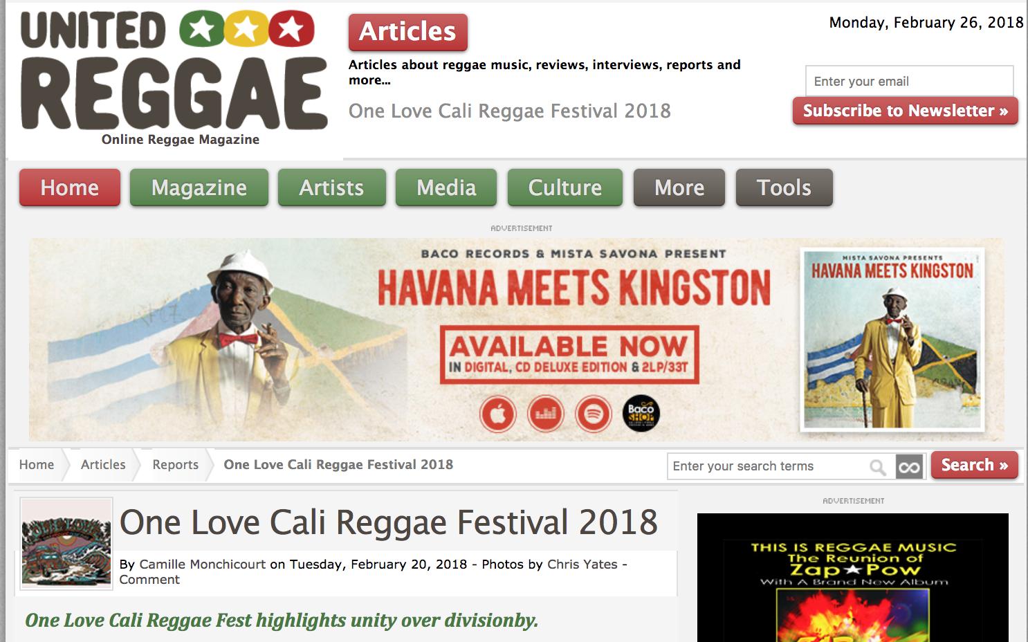 One Love Cali Reggae Fest | 2018