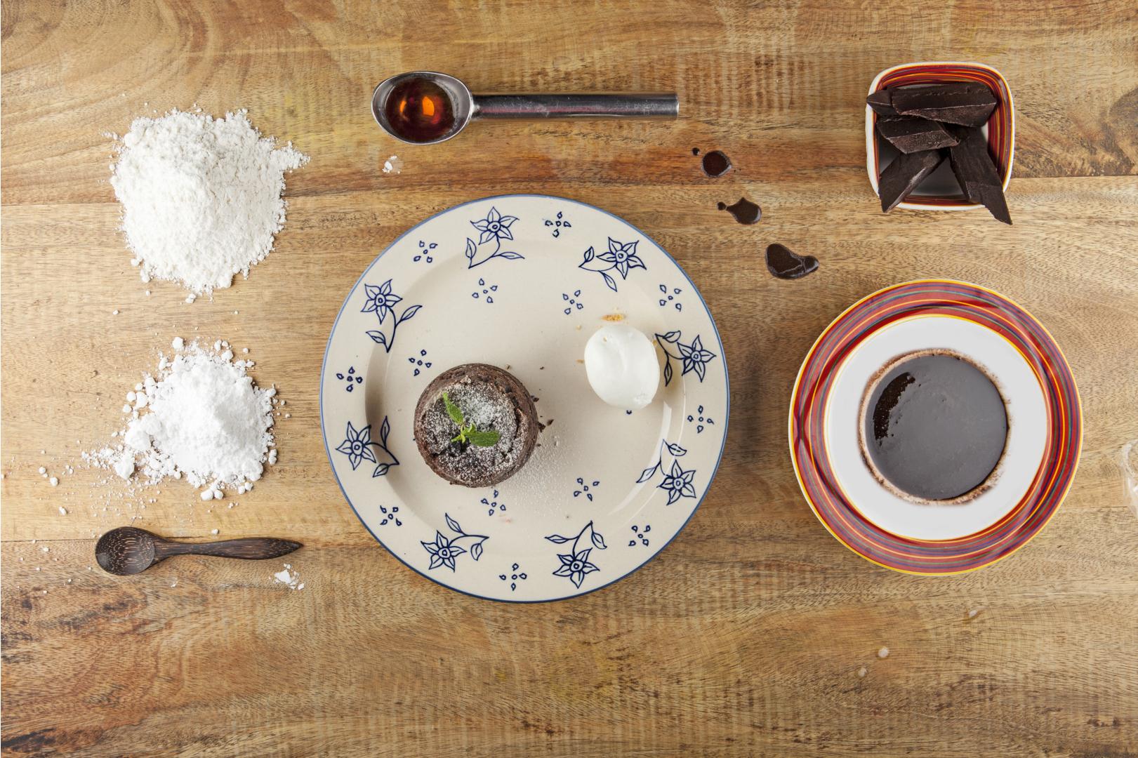 Warm Chocolate Cake, Vanilla Ice Cream