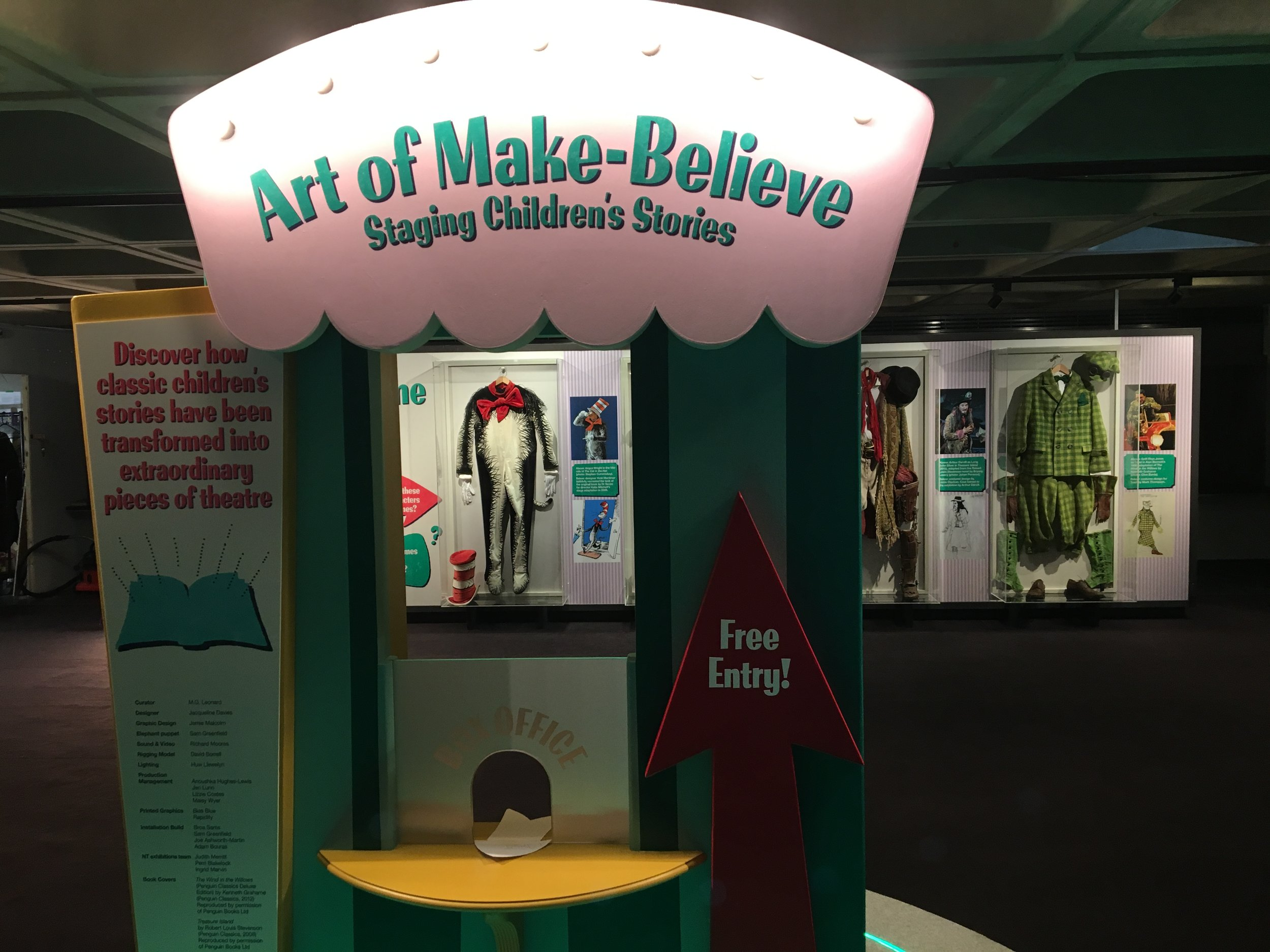 The entrance to the Art of Make Believe exhibition at the National Theatre