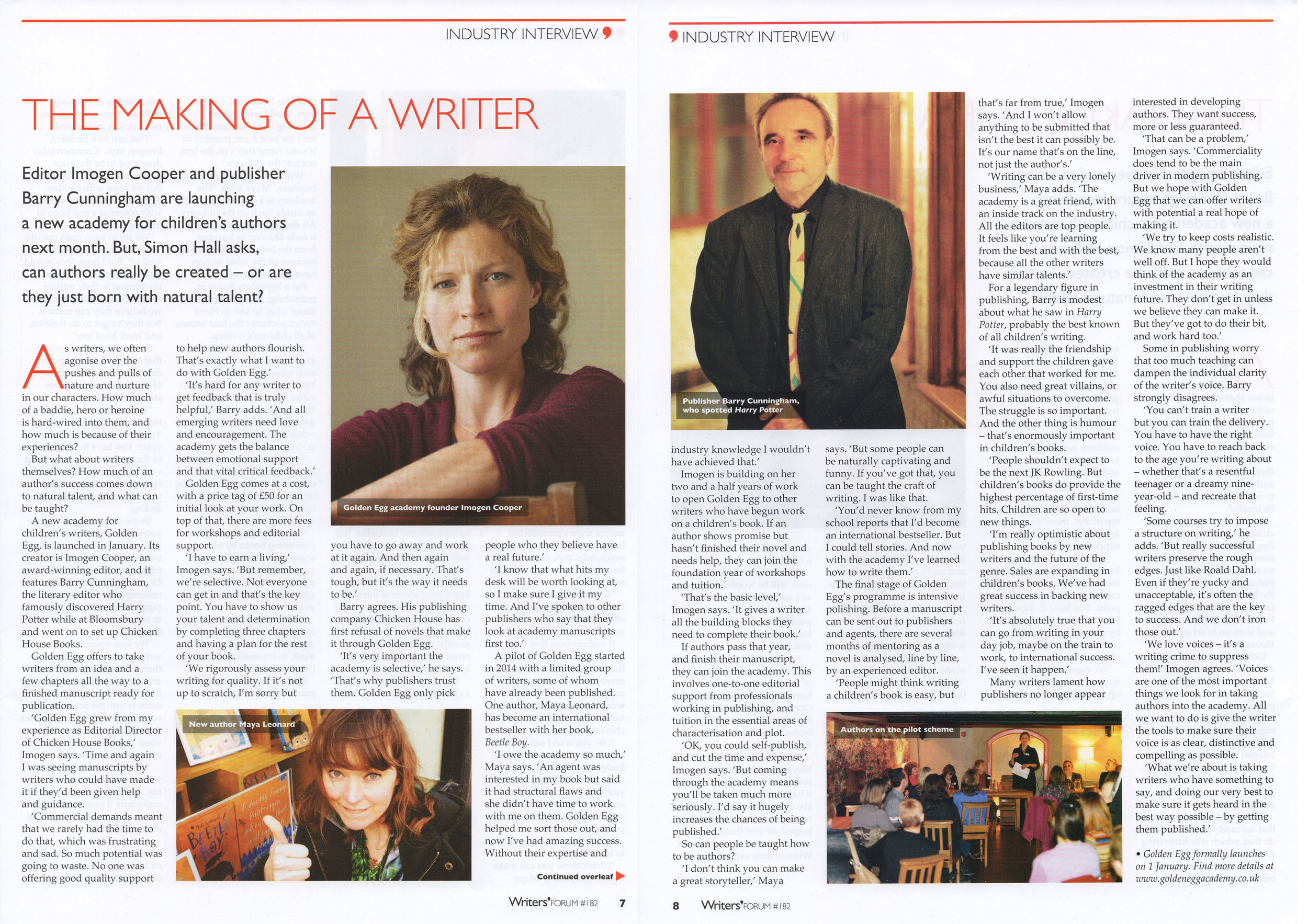 Writers' Forum article