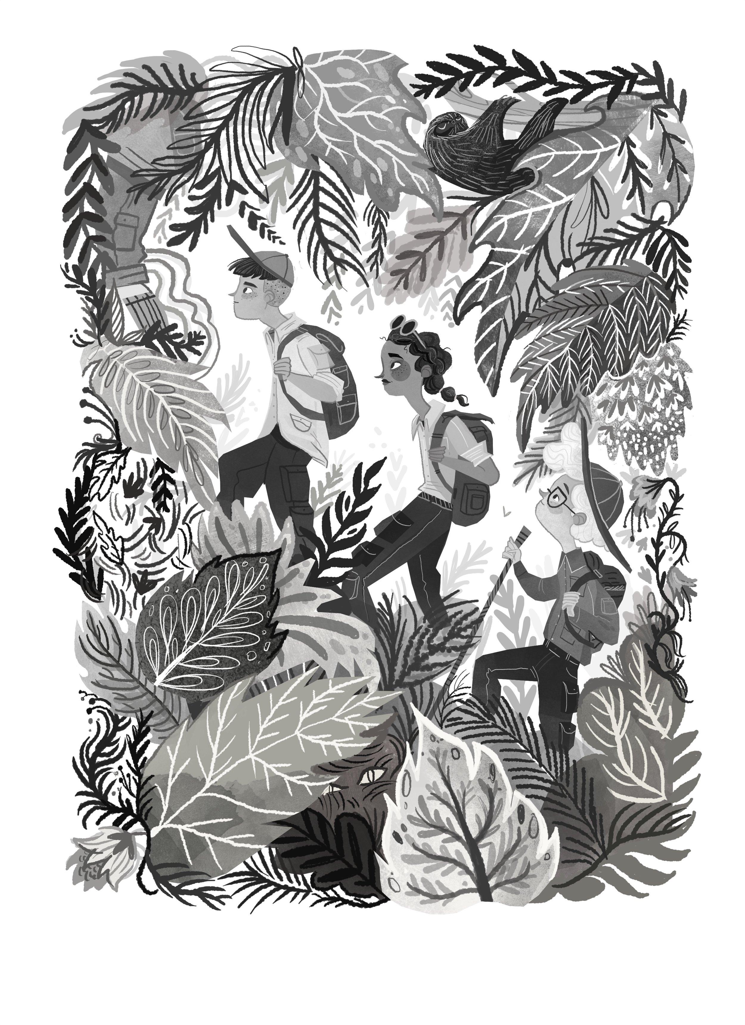 Internal illustration from  Battle of the Beetles  by Karl James Mountford