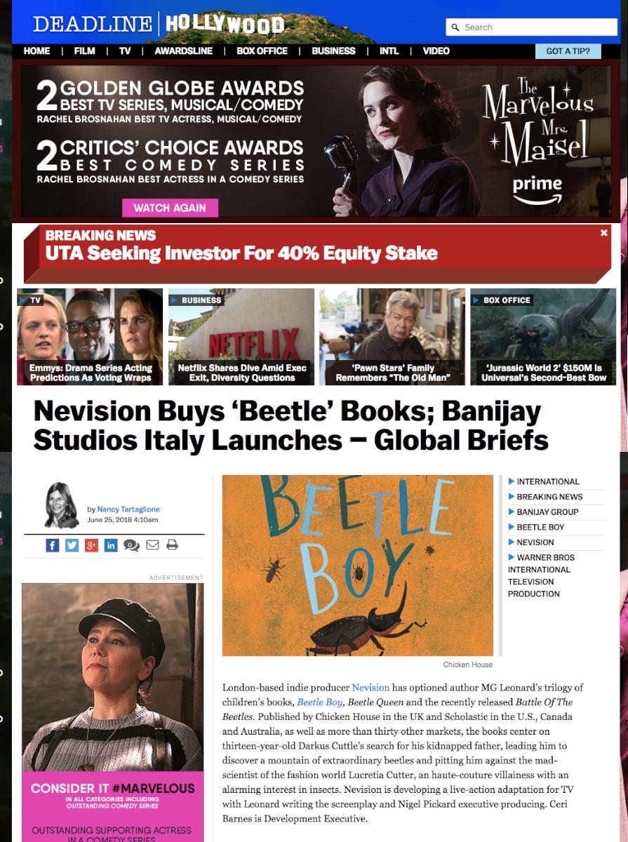 Deadline Hollywood  News Piece