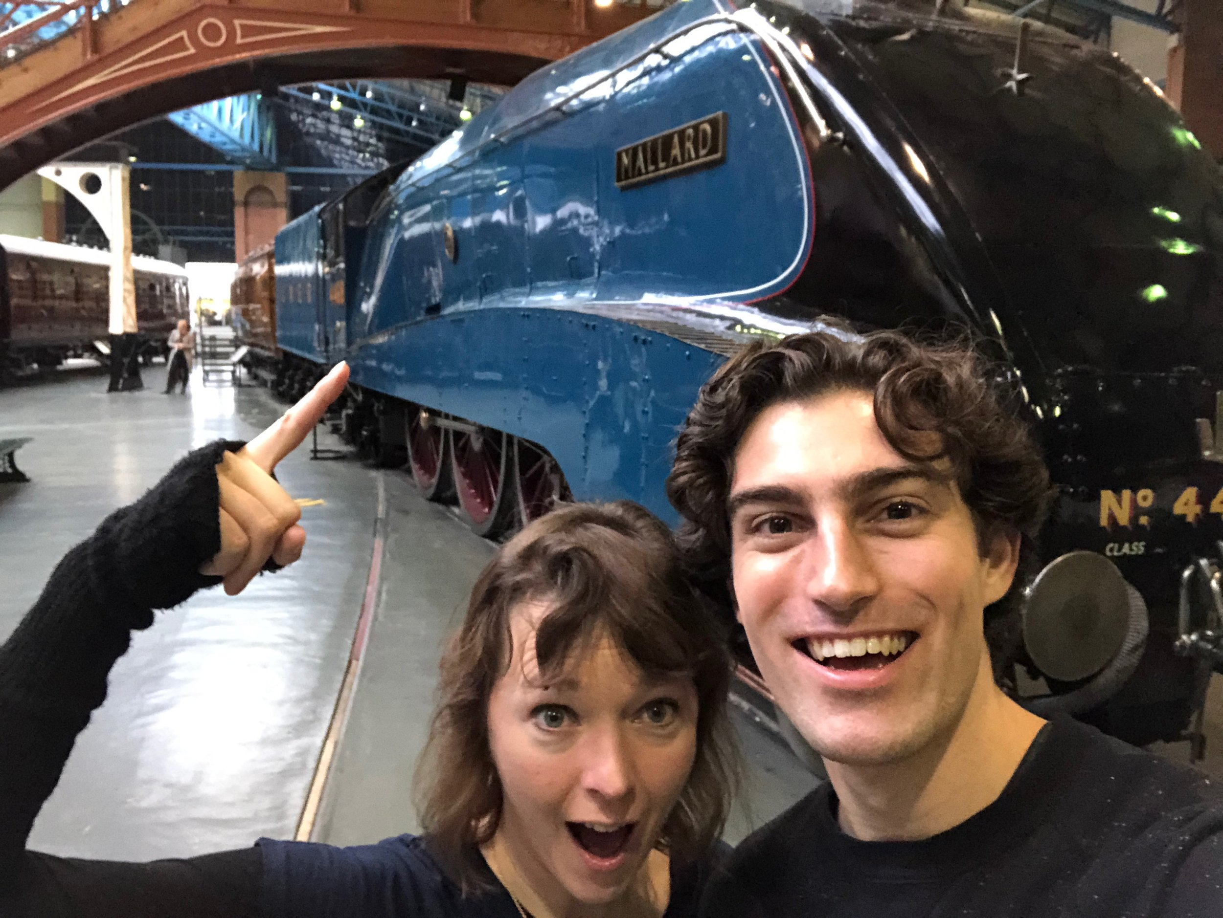 Me and my co-author Sam Sedgman at the National Rail Museum in York