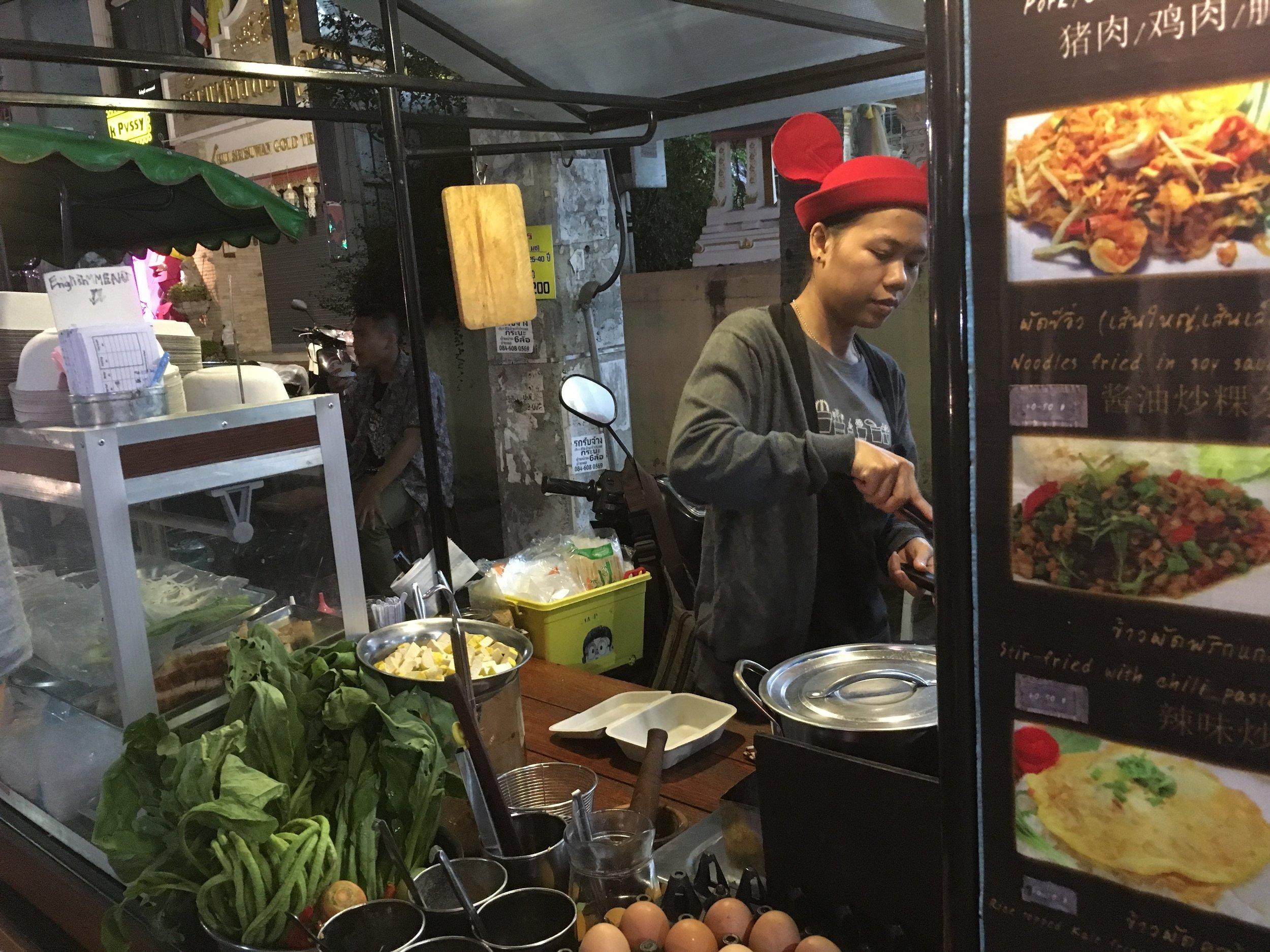 A street food chef