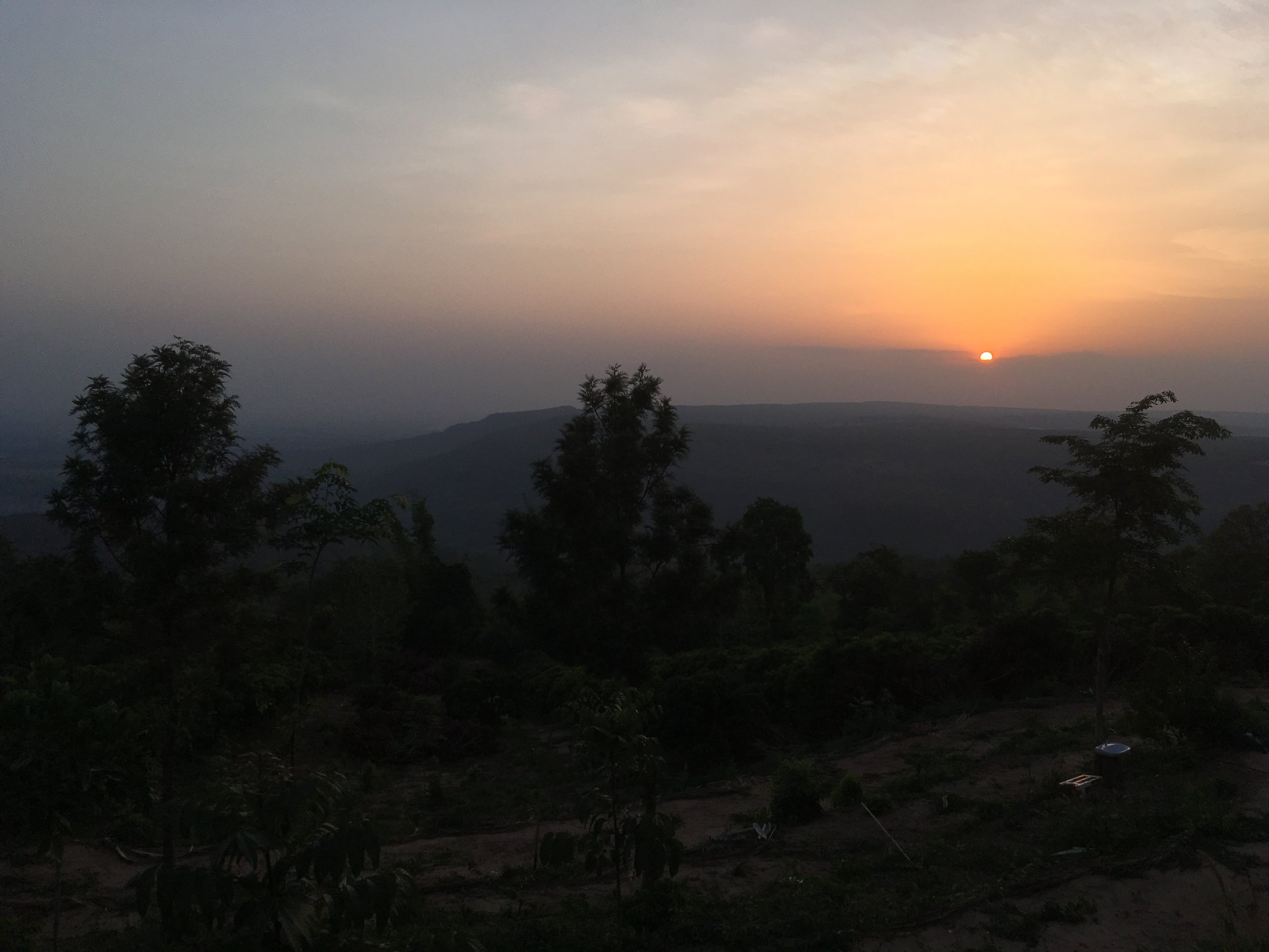 The sunset view