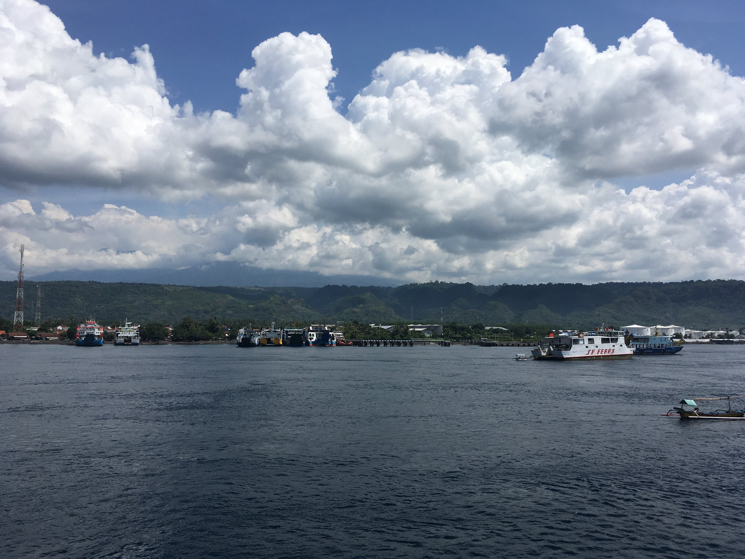 On the ferry from Java to Bali