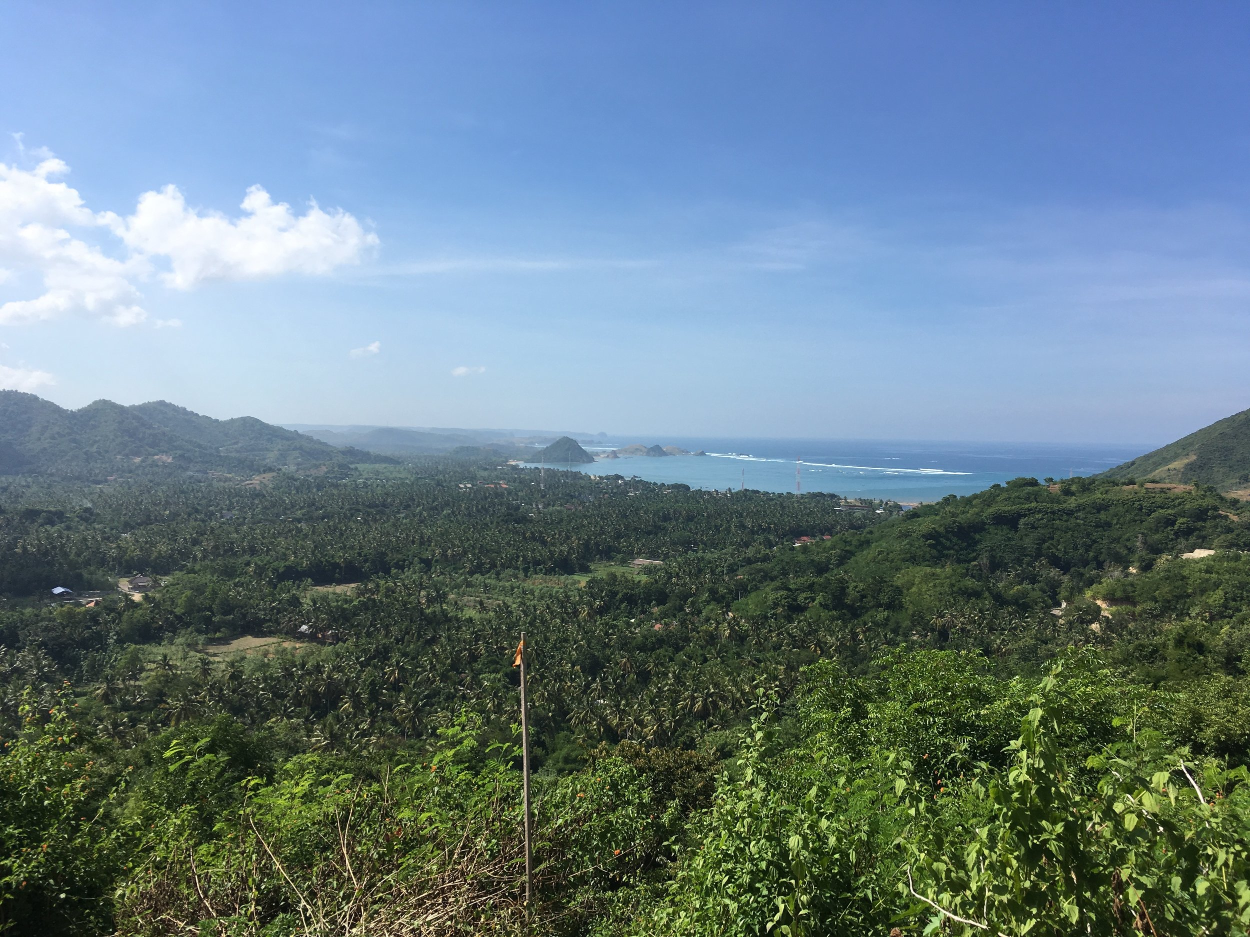 A view of the sea from Lombok island